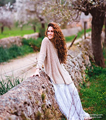 All photos preview - Anabel in the almond garden